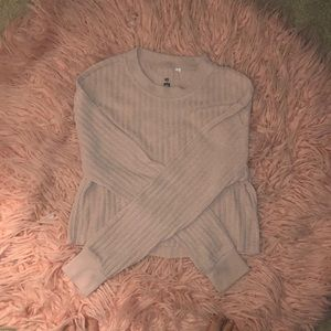 Me to We Pacsun Cropped Sweater - Nude / Pink